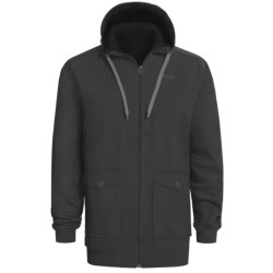 Orage Flee Fleece Sweatshirt - Full Zip, Hooded (For Men) in Burgundy
