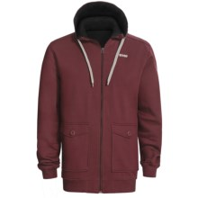 Orage Flee Fleece Sweatshirt - Full Zip, Hooded (For Men) in Burgundy - Closeouts