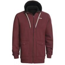 Orage Flee Fleece Sweatshirt - Full Zip, Hooded (For Men) in Burgundy - Closeouts
