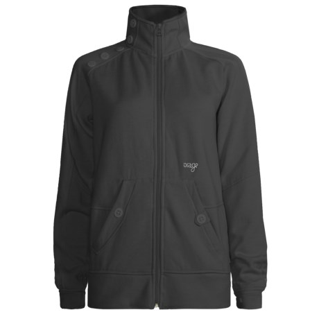 Orage Keele Fleece Jacket - Full Zip (For Women) in Black