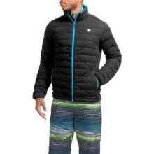 Orage Link Down Jacket - 600 Fill Power (For Men) in Black/Blue - Closeouts