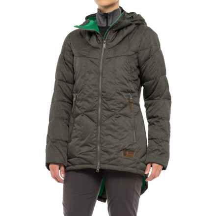 Orage Parkatype Synthetic Down Jacket - Insulated, Long Fit (For Women) in Heather Grey - Closeouts