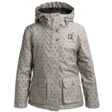 Orage Simone Ski Jacket - Waterproof, Insulated (For Little and Big Girls) in Stone Polkadot - Closeouts