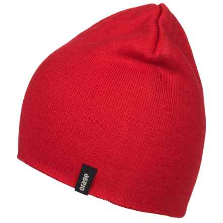Orage Slocan Reversible Beanie (For Men) in Red - Closeouts