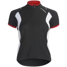 Orbea Dama Cycling Jersey - Zip Neck, Short Sleeve (For Women) in Black - Closeouts