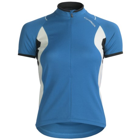 Orbea Dama Cycling Jersey - Zip Neck, Short Sleeve (For Women) in White