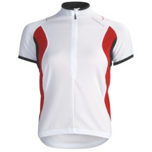 Orbea Dama Cycling Jersey - Zip Neck, Short Sleeve (For Women) in White - Closeouts