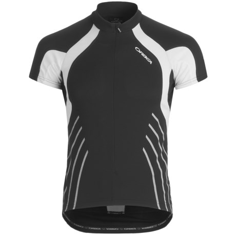Orbea Fitness Cycling Jersey - Zip Neck, Short Sleeve (For Men) in Black