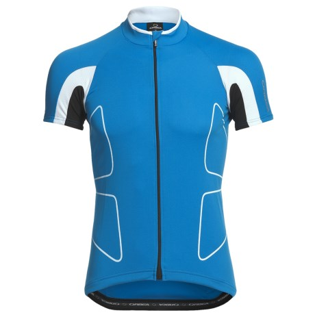 Orbea Fitness Cycling Jersey - Zip Neck, Short Sleeve (For Men) in Blue