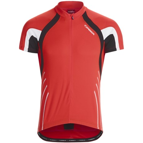 Orbea Fitness Cycling Jersey - Zip Neck, Short Sleeve (For Men) in Red