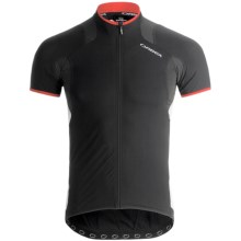 Orbea Pro SSN Cycling Jersey - UPF 50+, Full Zip, Short Sleeve (For Men) in Black - Closeouts