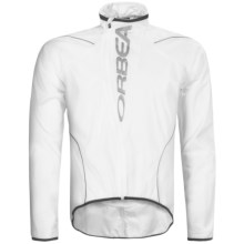 Orbea Rain & Wind Ultralight Cycling Jacket (For Men) in White - Closeouts