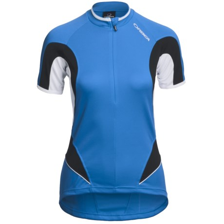 Orbea Series Cycling Jersey - Zip Neck, Short Sleeve (For Women) in Blue