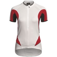 Orbea Series Cycling Jersey - Zip Neck, Short Sleeve (For Women) in White - Closeouts