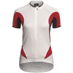 Orbea Series Cycling Jersey - Zip Neck, Short Sleeve (For Women) in White