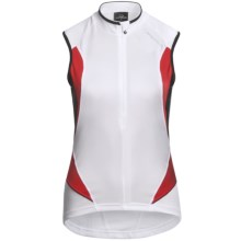 Orbea Series Cycling Jersey - Zip Neck, Sleeveless (For Women) in White - Closeouts