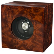 Orbita Casetta Single Watch Winder in Burl Elm - Closeouts