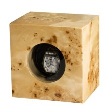 Orbita Casetta Single Watch Winder in Burl Poplar - Closeouts