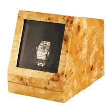 Orbita Prestige Sparta Single Watch Winder in Poplar Burl - Closeouts