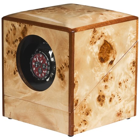 Orbita Privee Programmable Watch Winder - One Lithium in Burl Elm