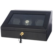 Orbita Siena 3 Programmable Watch Winder - Rotorwind in Black Leather - Closeouts