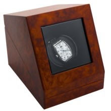 Orbita Siena Single Watch Winder in Matt Burl - Closeouts