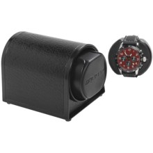 Orbita Sparta 1 Mini Watch Winder - Rotorwind in Black Leather - Overstock