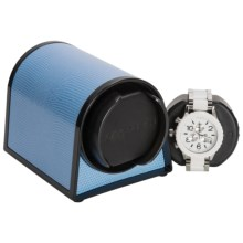 Orbita Sparta 1 Mini Watch Winder - Rotorwind in Blue Leather - Overstock