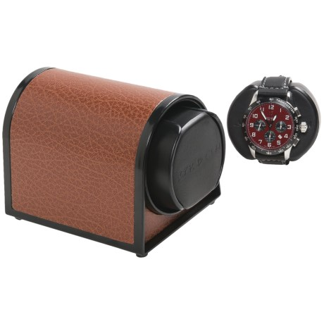 Orbita Sparta 1 Mini Watch Winder - Rotorwind in Brown Leather