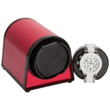 Orbita Sparta 1 Mini Watch Winder - Rotorwind in Red Leather - Overstock
