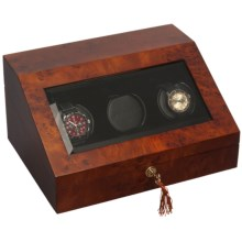 Orbita Sparta 3 Prestige Watch Winder - Programmable in Matte Burl - Closeouts