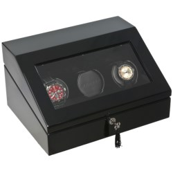 Orbita Triple Programmable Watch Winder in Black Lacquer