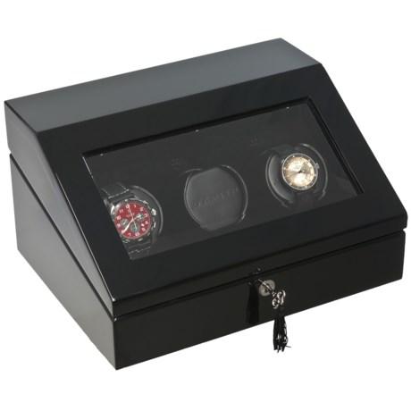 Orbita Triple Programmable Watch Winder in Black Lacquer