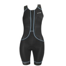 Orca 226 Kompress Tri Race Suit - UPF 50+, Built-In Bra and Chamois (For Women) in Black/Bachelor Button - Closeouts