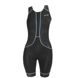 Orca 226 Kompress Tri Race Suit - UPF 50+, Built-In Bra and Chamois (For Women) in Black/Bachelor Button