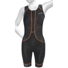 Orca 226 Kompress Tri Race Suit - UPF 50+, Built-In Bra and Chamois (For Women) in Black/White - Closeouts