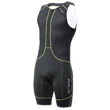 Orca 226 Kompress Tri Race Suit - UPF 50+ (For Men) in Black/Moto Green - Closeouts