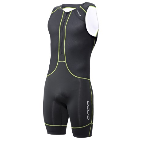 Orca 226 Kompress Tri Race Suit - UPF 50+ (For Men) in Black/White