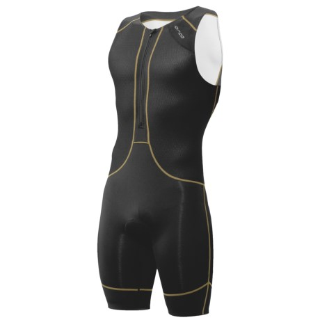 Orca 226 Kompress Tri Race Suit - UPF 50+ (For Men) in Black/Moto Green