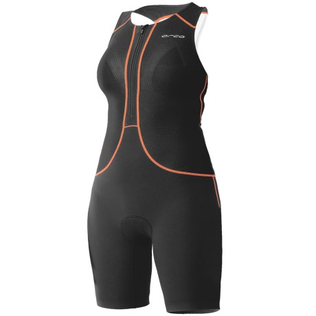 Orca 226 Lite Tri Race Suit - UPF 50+, Built-In Bra and Lite Chamois (For Women) in Black/Bachelor Button