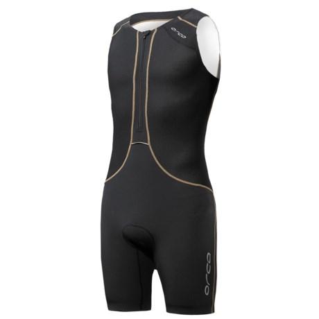Orca 226 Lite Tri Race Suit - UPF 50+ (For Men) in Black/White