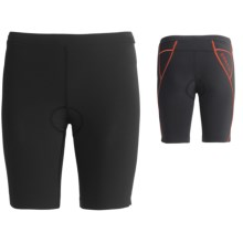 Orca 226 Lite Tri Shorts - UPF 50+, Built-In Chamois (For Women) in Black/Spicy Orange - Closeouts