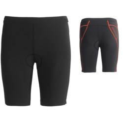 Orca 226 Lite Tri Shorts - UPF 50+, Built-In Chamois (For Women) in Black/Spicy Orange