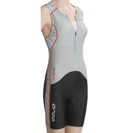 Orca 226 Race Tri Suit (For Women) in Silver/Black