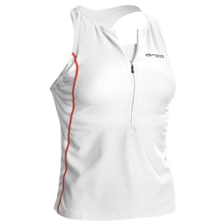 Orca 226 Support Singlet - Built-In Sports Bra (For Women) in White