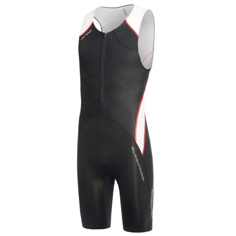 Orca 226 Tri Race Suit - Sleeveless (For Men) in Black/White