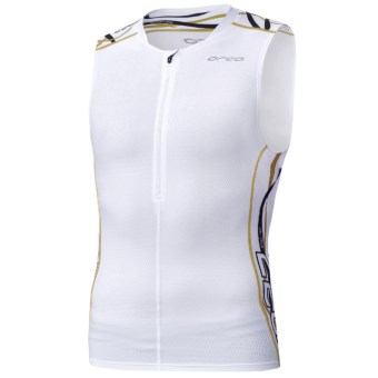 Orca 226 Tri Tank Top (For Men) in White/Gold