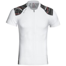 Orca 226 Tri Top - UPF 50+, Short Sleeve (For Men) in Black/True Red Print - Closeouts