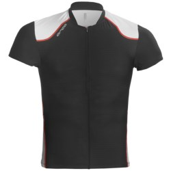 Orca 226 Tri Top - UPF 50+, Short Sleeve (For Men) in Black/White