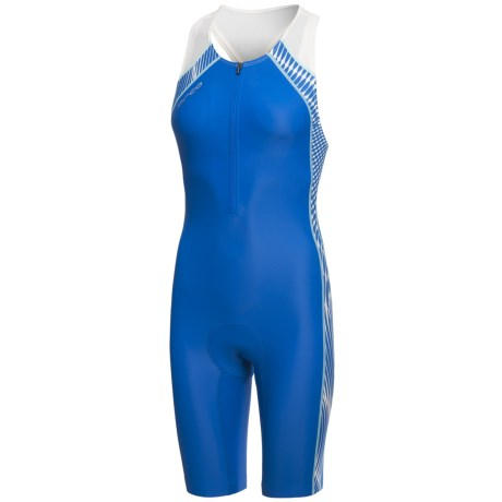 Orca 226 Triathlon Race Suit - Sleeveless (For Women) in Blue/White